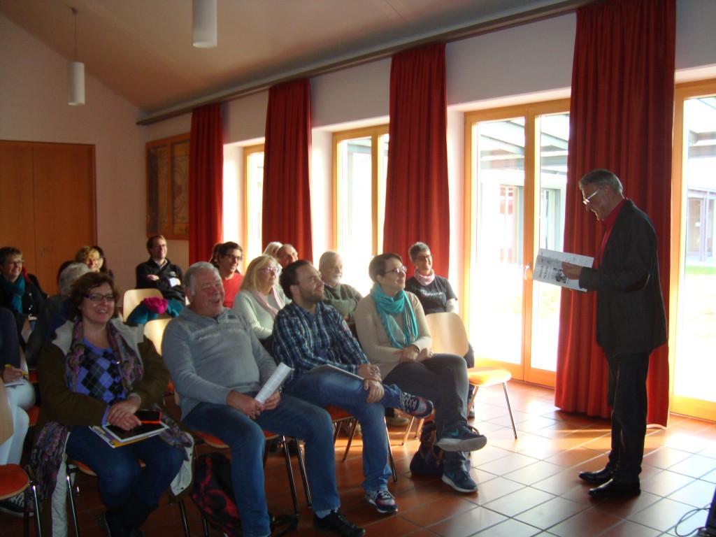 Karl Landherr begeistert für den Deutschkurs nach dem Thannhauser Modell.